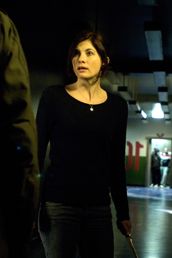 Jodie Whittaker attack the block